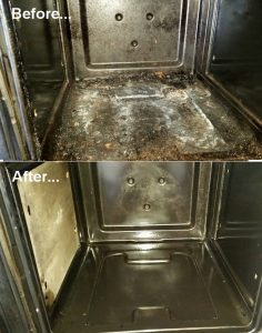 Before and After Durham Oven Cleaning